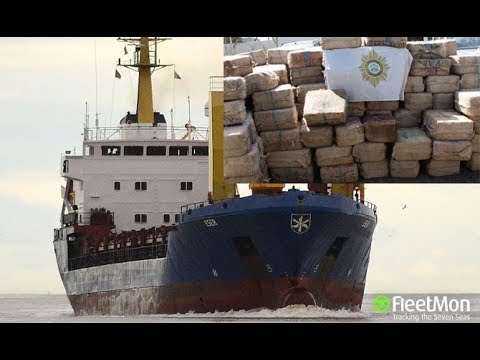9.5 tons of cocaine seized on board of cargo ship, crew arrested,
