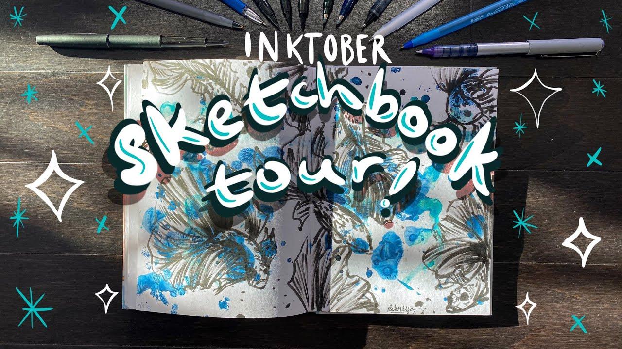 [VIDEO] inktober sketchbook tour + supplies