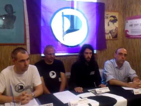Press Conference Czech Pirates (Karlovy Vary) & German Pirates (Hof/Wunsiedel)