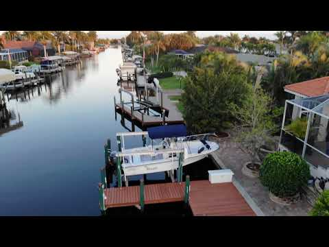 Drone flight over Cape Coral Canal