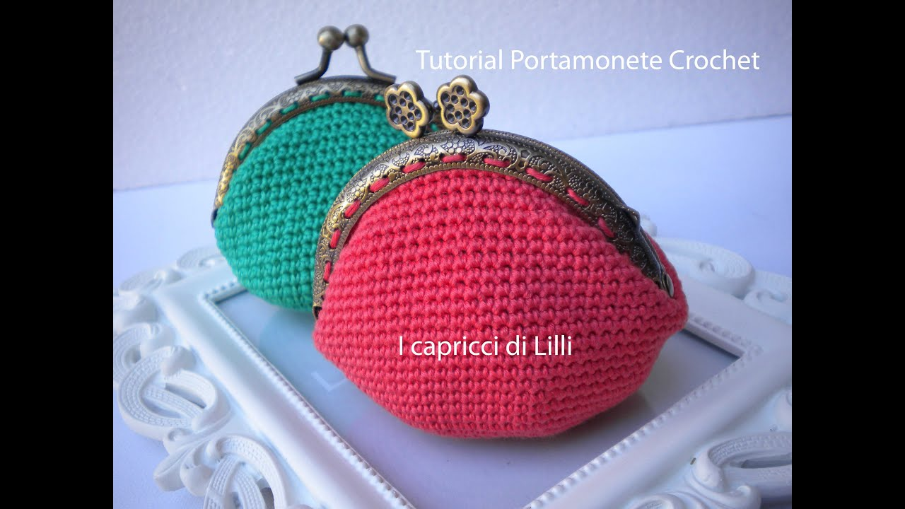 Tutorial Portamonete Coin Purse Crochet Uncinetto