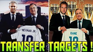 Transfer News (2018) Top 10 REAL MADRID Transfer Targets | Neymar at #2 | Kane at #3 | Hazard at #5