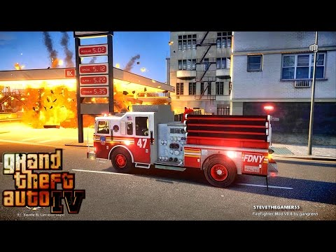 Grand Theft Auto IV - FDLC/FDNY - Day 42 with the fire department! (GTA 4 MODS) #TBT