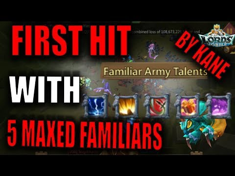 NEW FAMILIARS RALLIES!! GAME BREAKER?!! - 31M TROOPS ZEROED - LORDS MOBILE