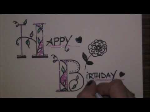 Fancy Letters How To Write Beautiful Creative Letters Happy Birthday Happy Birthday Video Net