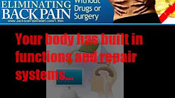Dr. Shannon Bone, Jackson TN explains the secret to eliminating back pain without drugs