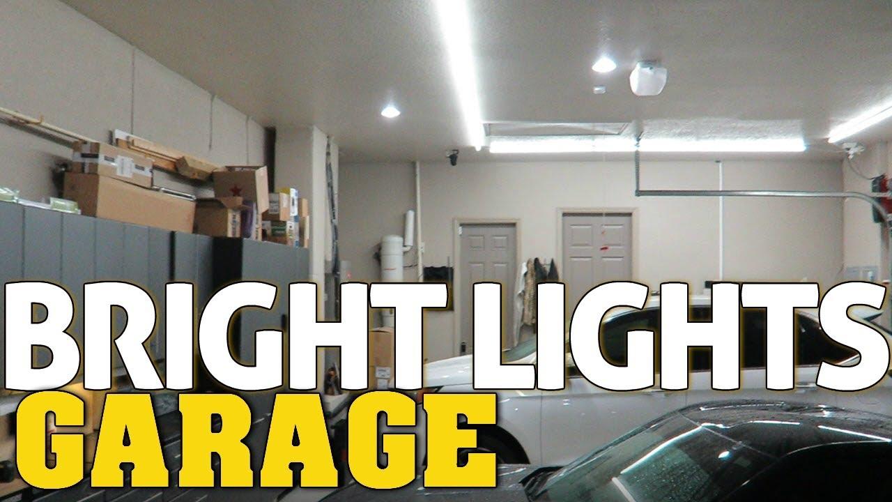 super bright led garage workshop lighting best garage lights