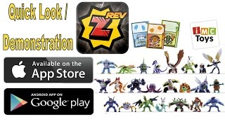 Invizimals - Revolution App Quick Look / Demonstration With Figures / Toys