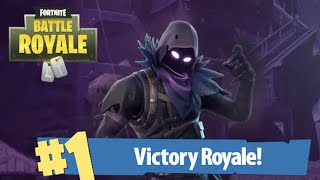 "Trying To Get My First Solo Win - ""RAVEN SKIN"" (Fortnite Battle Royale)"