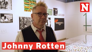 The Sex Pistols' Johnny Rotten Walks Through A History Of Punk Graphics