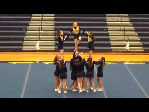 Portage Central Middle School Blue Cheer at 2018 Mustang Invite