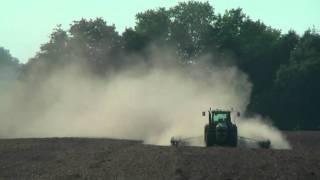 Autopilot Trimble CFX-750 RTK VRS na traktoru JD8520 - setí řepky u Vysokého Mýta (srpen 2011)
