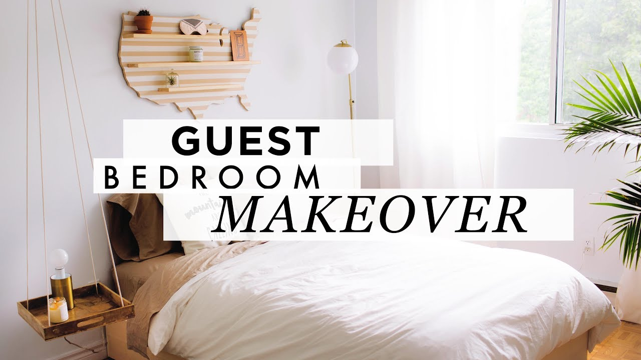 Gorgeous Guest Bedroom Makeover Youtube