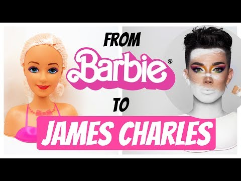 FROM BARBIE TO JAMES CHARLES DOLL REPAINT, UNLEASH YOUR INNER ARTIST PALETTE LOOK by Poppen Atelier