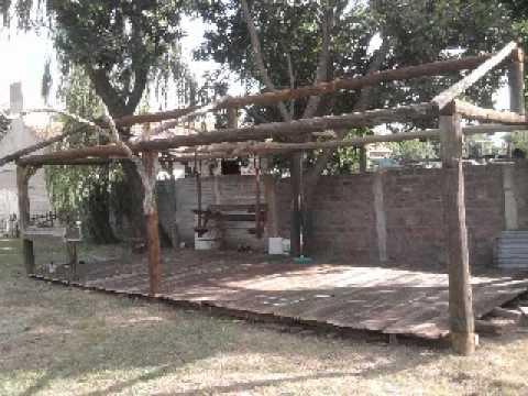 Construccion del quincho en tres lomas youtube for Techos redondos fotos