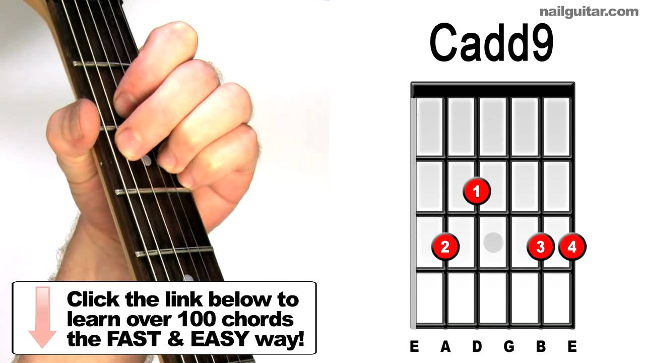 How To Play Cadd9 Guitar Chords Tutorial Lessons Youtube
