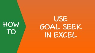 How to Use Goal Seek in Excel