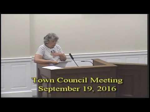 Town Council 09192016