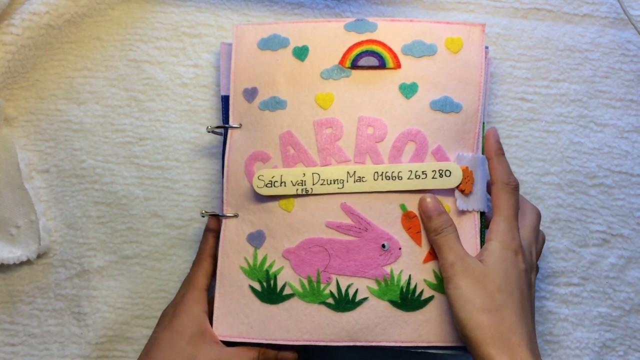 đồ handmade bằng vải nỉ – Nguyên liệu tự làm sách vải cho bé   by Dzung Mac