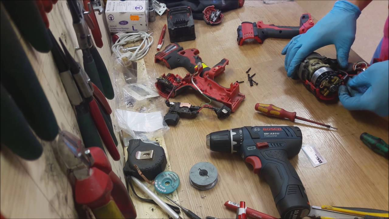 how to repair assemble milwaukee m18 cordless drill switch and housing change [ 1280 x 720 Pixel ]