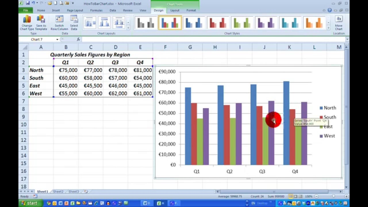 medium resolution of draw a simple bar chart in excel 2010