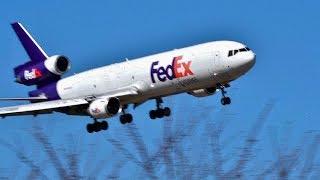 ヤバい❗Go Around!!!FedEx MD-11(N596FE) 成田空港ら羽田へダイバード