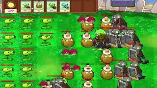 Angry Birds vs Zombies - 10 PEASHOOTERS SHOOTING ANGRY BIRDS PROTECT GARDEN