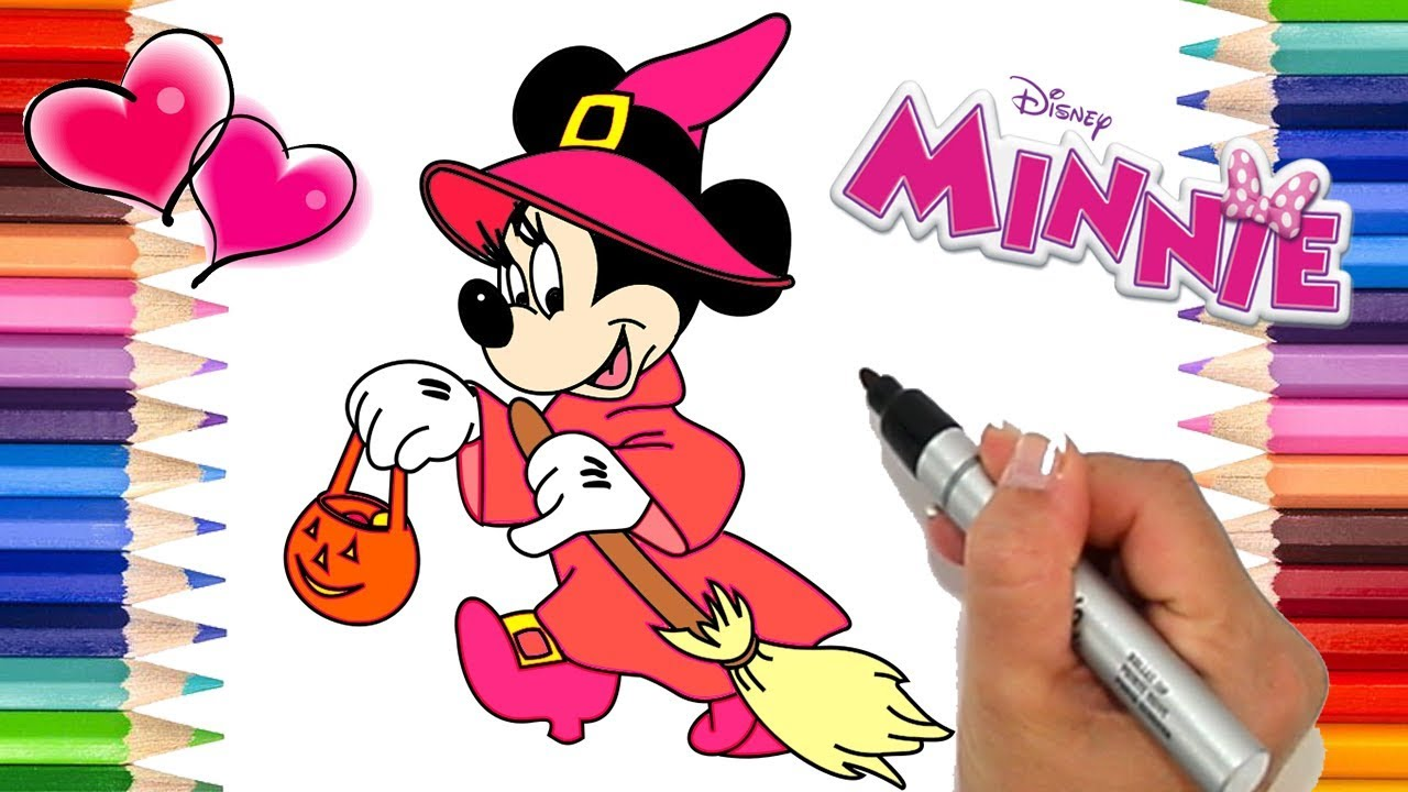 How To Draw Minnie Mouse Halloween