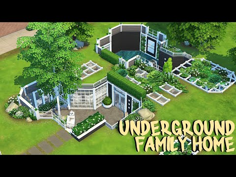 underground-family-home-💙-|-the-sims-4-|-speed-build