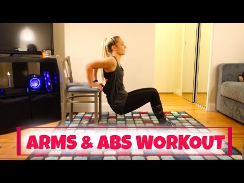 💪🏼ARMS AND ABS AT HOME CHAIR WORKOUT