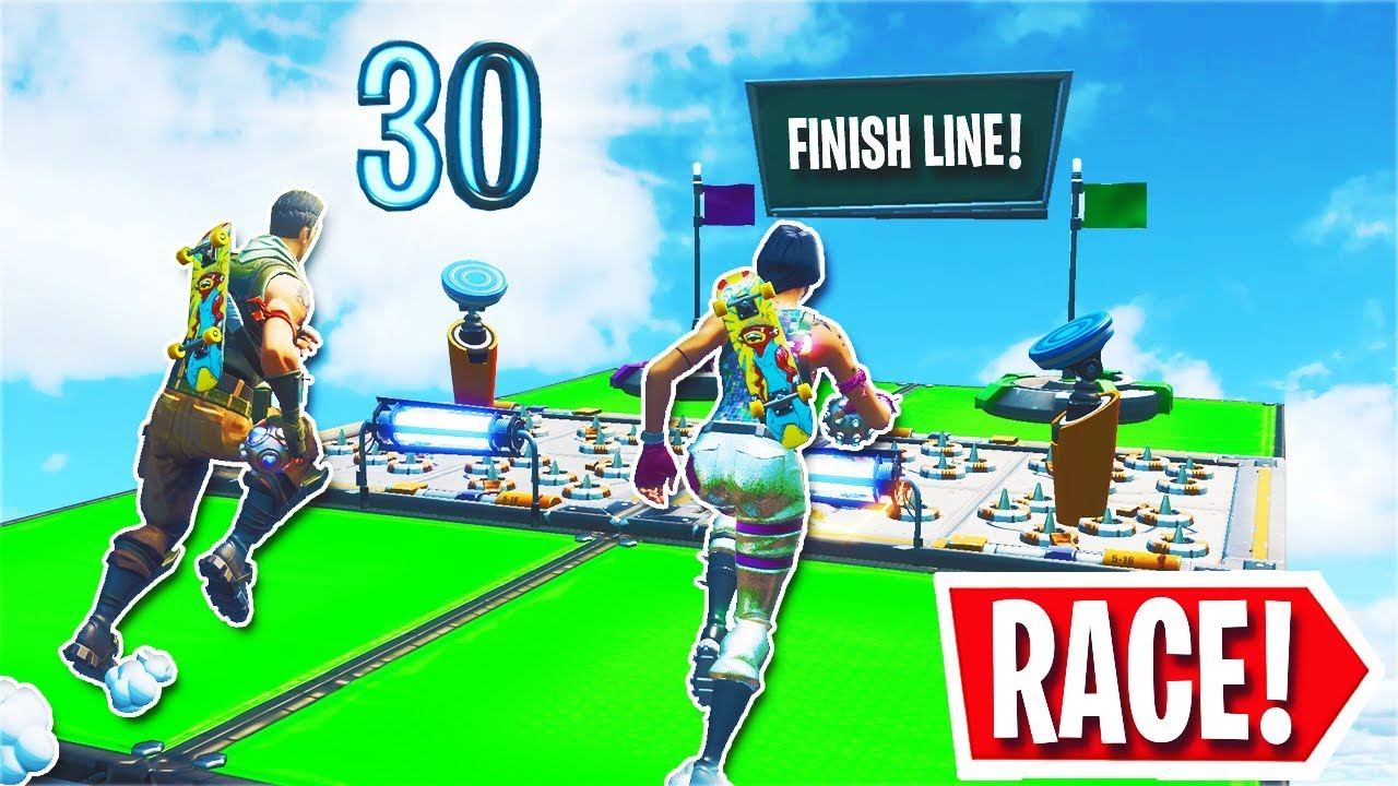 The NEW 30 Level Deathrun 1v1 RACE... (Fortnite Creative ...