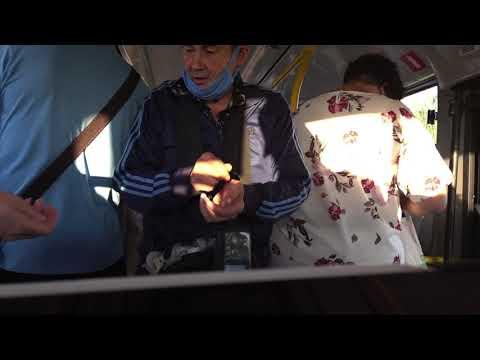 Кипиш в автобусе из-за маски.
