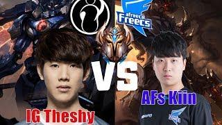 theshy vs kiin when ig theshy vs afs kiin in korea soloq who is best top