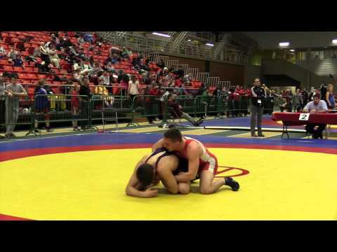 2014 Junior National Championships: 84 kg Grayson St. Laurent vs. Geno Poirier