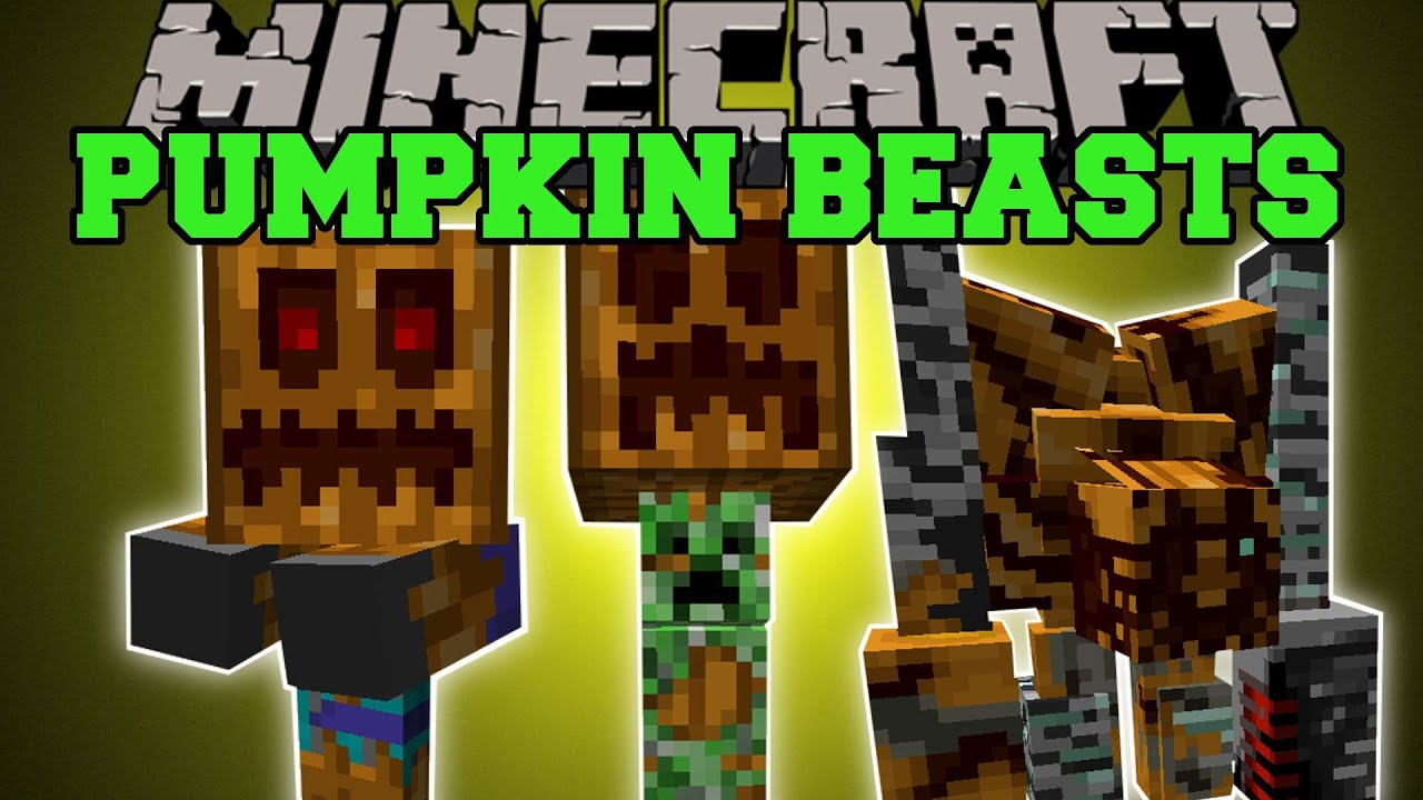 Minecraft: PUMPKIN BEASTS (PUMPKIN PETS, MOBS, GOLEMS, & FOOD) Mod ...