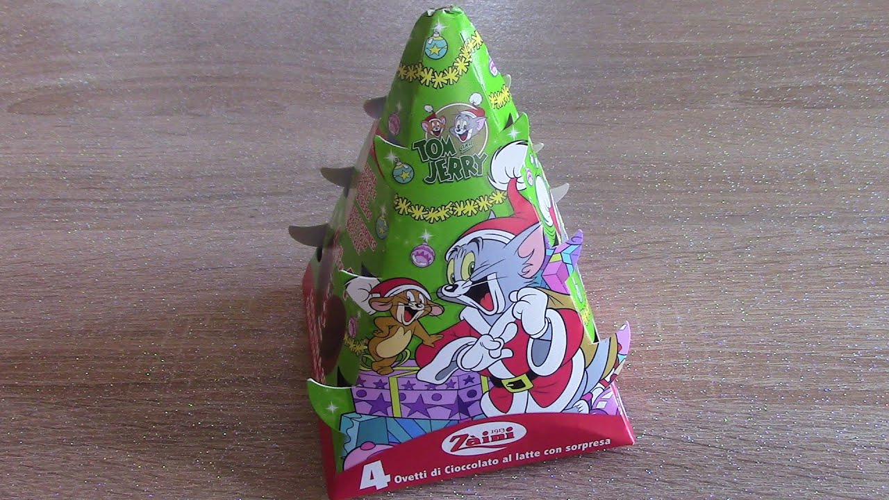 ZAINI Tom & Jerry's Christmas Tree With Surprise Eggs