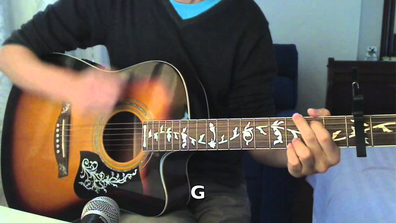 Adele Rolling In The Deep Beginner Guitar Cover Chords Youtube