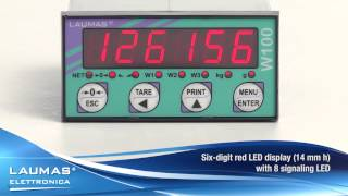W100 -- Weight indicator for panel mounting - LAUMAS