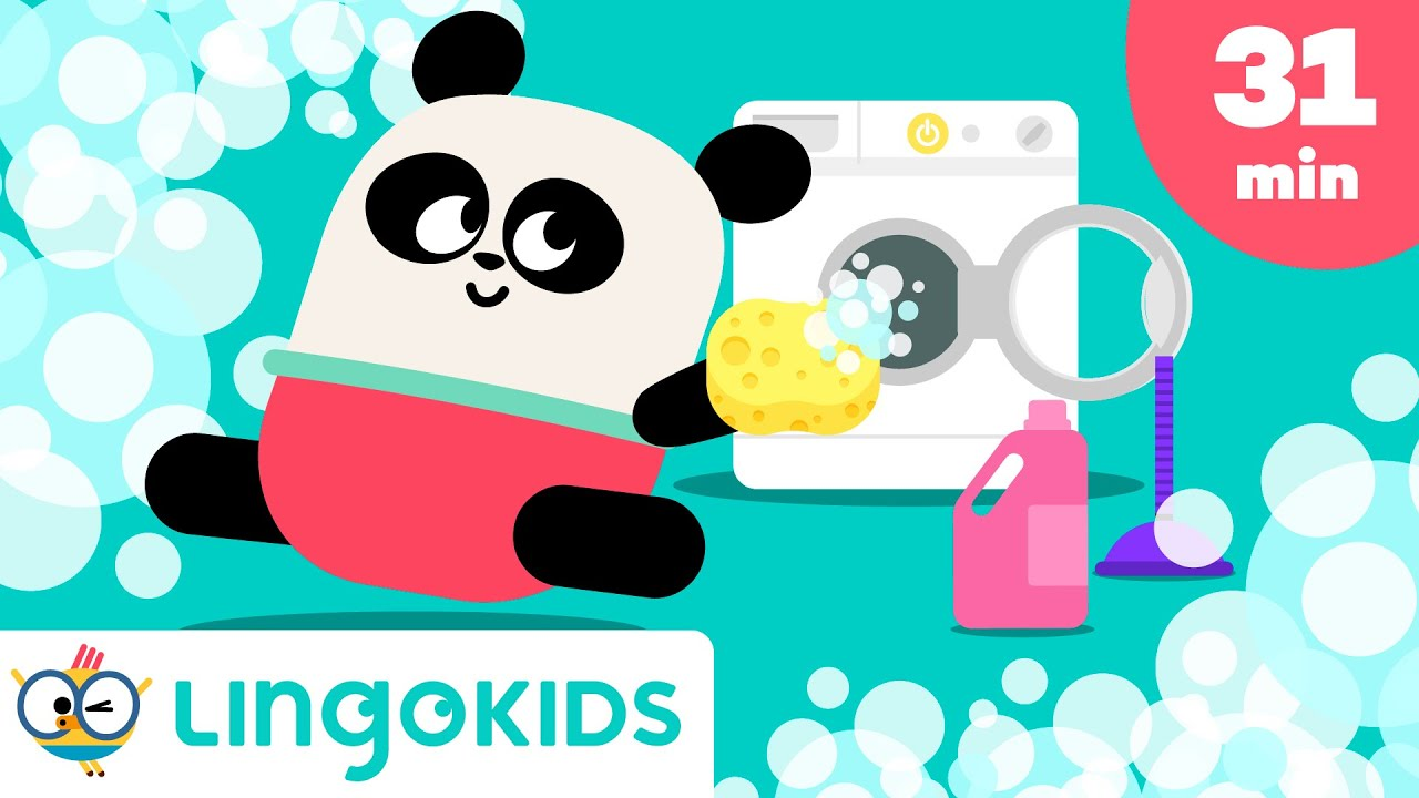 Clean Up Songs 🧹🧼 + More Songs for Kids   Lingokids