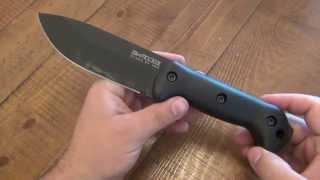 """Knife Review : Ka-bar Becker Campanion """"bk2"""" (fixed Blade)"""