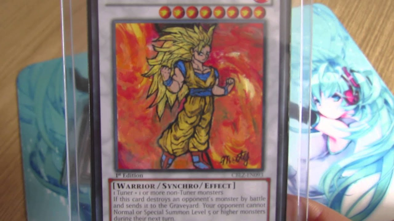Dragon Ball Z YuGiOh Card Altered Art! - YouTube