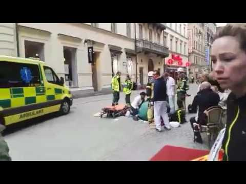 SWEDEN TERROR ATTACK! #stockholm - REAL FOOTAGE
