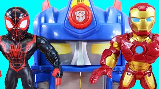 Imaginext Skateboard Dude Controls RC Mega Mighties Iron Man Robot | Playskool Rescue Bot Superhero
