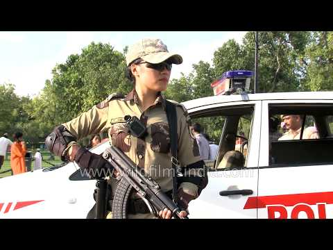 Glam face of Delhi Police: Woman commando Chiewelou Thele with her toys