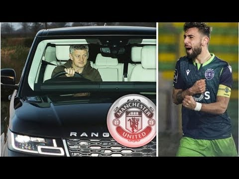 Ole Gunnar Solskjaer arrives at Carrington as Man Utd close in on Bruno Fernandes deal- transfer ...