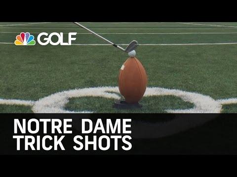 Notre Dame Trick Shots   Golf Channel