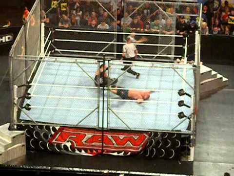 John Cena vs. Undertaker vs. Sheamus (STEEL CAGE, WWE TITLE) 08.30.2010 Boston, MA