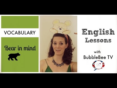 Learn English - English Vocabulary: Bear in mind | English Lessons