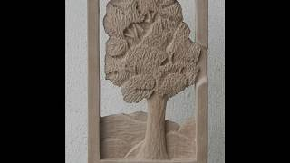 Wood Carving Tree In Progress