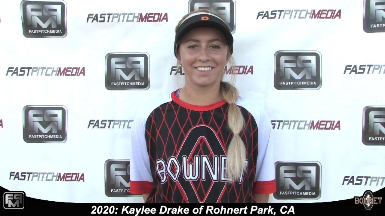 2020 Kaylee Drake Pitcher Softball Skills Video - Bownet